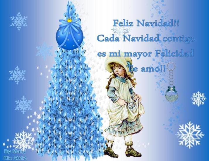 Cada navidad contigo es mi mayor felicidad