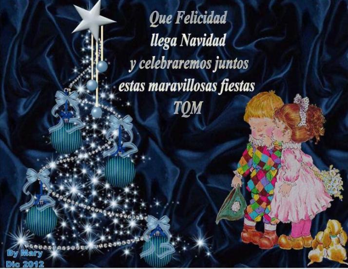 Que felicidad llega navidad