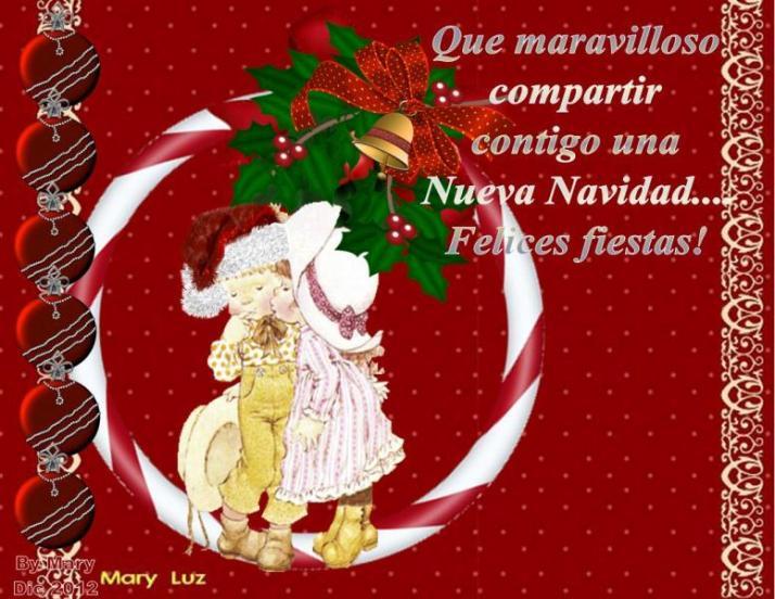 que maravilloso comparti contgo una nueva navidad felices fiestas