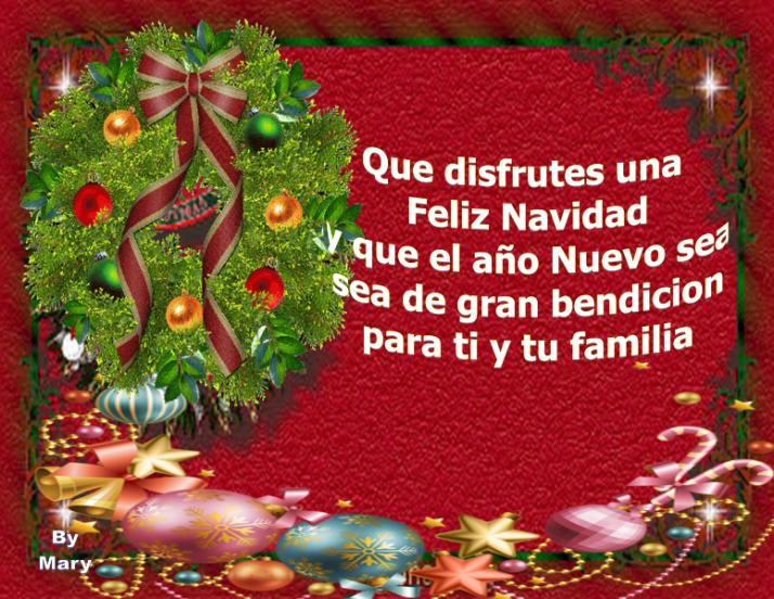 que disfrutes una feliz Navidad....
