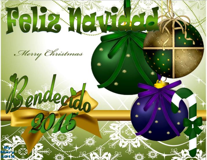 Feliz Navidad bendecido 2015